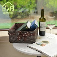 basket locker - Environmental contracted locker straw basket straw drawer for home furnishing