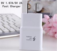 Wholesale 100 Real Fast Charger EU US V A V A Quick charging Travel Home Adapter for Samsung S6 S7 Note4