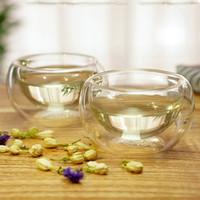 art tea cup - creative double wall resist water glass shot glasses small tea mugs drinking glasses tea cup ml