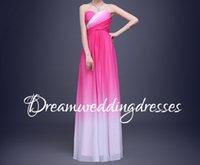 beach changing - Ombre Women Wedding Party Dress Pink Gradual Change Chiffon Beach Summer Pageant Gowns Pleats Abendkleider Vestido Festa Bridesmaid Dresses