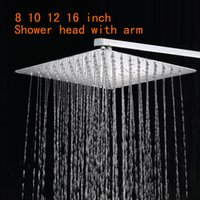Wholesale Stainless Steel Shower Head With Arm Wall Mounted Ultra thin Rain Shower Heads With cm Shower Arm