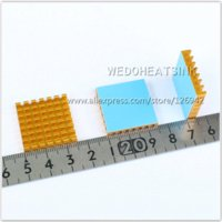 ball bearing transfer - x25x5mm Aluminum Radiator Heatsink Cooler With Blue Thermal Adhesive Heat Transfer Pad Double side tape