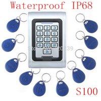 Wholesale Metal Case RFID Proximity Card Waterpoof IP68 Access Control Keypad Single Entry Keypad Door Lock Access Fobkey
