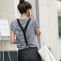 Wholesale Fashion PU Leather Y shape Clip on Belt Black Adjustable Costume Belt for Women Men