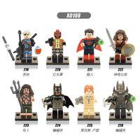 batman red hood - 480pcs Super heroes building blocks Deathstroke Red Hood Aqua Man Pirates Batman Lex Luther minifigures kids toys children gift bricks
