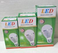 Wholesale LED bulb lamp spot light packaging box W W CREE led bulb lamp packaging paper box packing DHL FEDEX free dropping