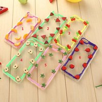 apple fruit salads - For Apple iPhone s s plus Fruits Gel Case New Arrival Soft TPU Sweet Candy Colorful Salad Painted Skin Transparent case