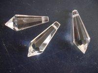Wholesale 100pcs mm glass icicle prism crystal u drop chandelier parts pendant