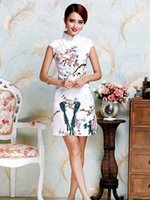 ancient chinese fashion - Improved qipao fashion summer The Chinese dress skirt Daily cheongsam restoring ancient ways Positioning printing qipao Qipao to restore anc