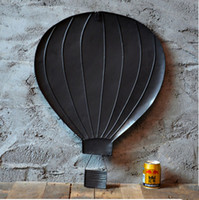 air charts - American vintage iron muons wall stereo hot air balloon bar decoration model