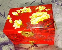 beauty traditions - Pingyao lacquer jewelry box Chinese traditional red background can bring Her beauty is good enough for the aristocracy It has so tradition