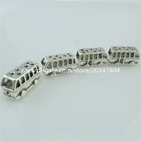 antique bus - 14976 x Antique Bus Trip Trolley Vehicle Dangle Bead for European Bracelets