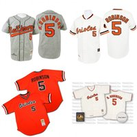 authentic orioles jerseys - White grey orange black Throwback Brooks Robinson Authentic Jersey Men s Mitchell And Ness Baltimore Orioles