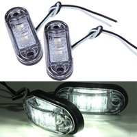 Wholesale Pack of high quailty Piranha LED Side Marker Blinker Light Lamp For Car Truck Trailers V White