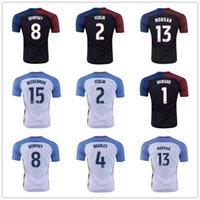 Mejor calidad de Tailandia 2016-2017 hogar lejos EE.UU. # 8 DEMPSEY # 13 MORGAN # 15 # 17 Beckerman Altidore para hombre del equipo nacional de fútbol de los jerseys Negro Venta
