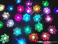 Wholesale Flying lantern wishing lanterns Chinese Floating Garden Water Pond Artificial lotus flower lamp Wishing Christmas Party Lamp