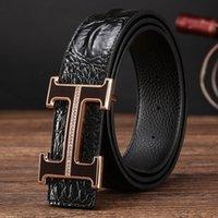Wholesale Men s leather belt set auger H letter H buckle belt buckle new plate belt buckle belts