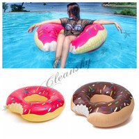 Wholesale Summer Water Toy inch Gigantic Donut Swimming Float Inflatable Swimming Ring Adult Pool Floats Colors Z236