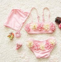 Cheap kids swimwear girls tankini swimsuits swimming suit for girls floral childrens swimwear for the pool bikini baby girl