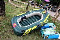 Wholesale 260 cm Fishing Boat for Person Inflatable Boat Kayak Canoe Seahawk Alumnium or Plastic Oars Pump Cushions Repair Patch