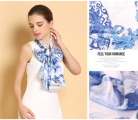 Wholesale China Winter Fashion - China pure 100% silk scarves mulberry silkshawl wraps scarf 2016 pashmina chinese style 52*175CM girls' autumn winter pashmina free shipping