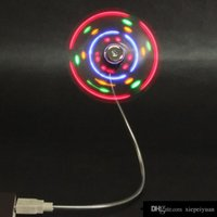Wholesale 500PCS Mini USB fan LED Mini Colorful Flexible USB Fan Cooling Cooler For Notebook Laptop tablet pc Q8 Q88 PC
