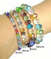 Wholesale fashion Cheap Women s Bracelets colorful stretch crystal bead bracelets Fashion Supplier