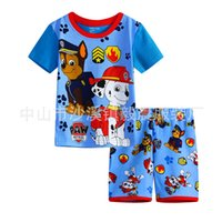 Cheap 5 style patrol Pajamas outfits cartoon baby boys batman short-sleeved+ short pants 2pcs set Tracksuit suit baby Clothing DHL shipping C935