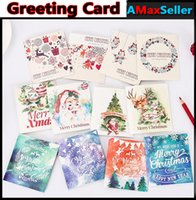 Wholesale Newest Santa Claus Greeting Cards Invitation Postcard Christmas Greeting CARDS Best Wishes card For Birthday Christmas Party Gift hot