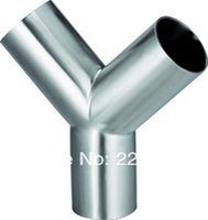 alloy pipe welding - New arrival Stainless Steel SS304 weld OD mm Sanitary ways Y Pipe Fitting