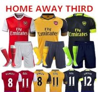 Casual Shirts arsenal soccer uniforms - 2016 Thai Quality New Arsenals Soccer Jerseys kit Home away OZIL WILSHERE RAMSEY ALEXIS XHAKA GIROUD arsenals jersey football uniforms