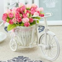 Wholesale Large Rattan Tricycle Bike Flower Basket Vase Storage Party Decor Great for holding flowers candy small gifts