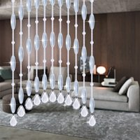 bedroom french doors - 100 Crystal Beads Rope Curtain Living room Bedroom Door dining hall DIY chandelier curtain M Bead Home Party Decoration TP07