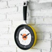 antique pan light - Creative Omelette Fry Pan Kitchen Fried Egg MINI Design Wall Clock Decor children s gift new