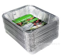 Wholesale Aluminum foil baking tray baking tin paper tray disposable tin foil plate baking tools L