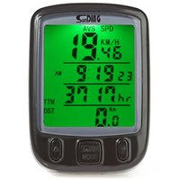 Wholesale Colors Bicycle Computer Water Resistant Bicycle Computer Wireless Cycling Odometer Speedometer with Green Backlight
