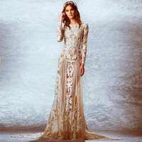 beach imports - Fall Fashion Zuhair Murad Wedding Dresses Long Sleeve Appliqued Brides Dress Imported China Wedding Gowns Vestido Casamento