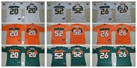 Wholesale 2016 Miami Hurricanes Youth Jerseys Ed Reed Ray Lewis Sean Taylor Kids Boys Children Top Quality College Football Jersey