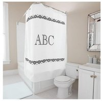 abc fabric - Customs W x H Inch Shower CurtainLetters Theme ABC Waterproof Polyester Fabric DIY Shower Curtain