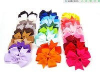 Wholesale 40 kinds of colors many with a nail band bow solid color bow clip baby hair bow boutique hair accessories girls hair clips