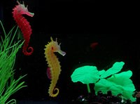 artificial aquarium light - Artificial Night Light Sea Horse Decoration Aquarium Fish Tank Decorations ocean Hippocampa Silicon Drop Shipping Random Color