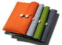 Wholesale Wool Felt for macbook quot quot quot quot Laptop Sleeve Pouch For Macbook Air Pro Retina Ultrabook Cover Case Notebook Inner Bag