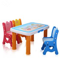 plastic tables and chairs - Children learning desks and chairs Plastic screw package and table