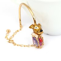 adorn gems - Puppy kitten enamel glaze gem bracelet French big Europe and the United States listed on the new bracelet adorn article one undertakes