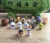 La vida secreta de las películas de acción Animales Figuras 14pcs / set 3-7 cm modelo de juguete para niños juguetes de los cabritos de la muñeca Max Chloe bola de nieve Conejo Gidget perro de amigos