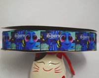 Wholesale yard roll inch printed grosgrain baby dory ribbon RTS