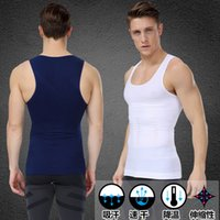 Wholesale Men s sexy Slimming Body Shaper Belly Fatty thermal Underwear men sport Vest Shirt Corset Compression