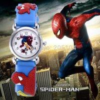 baby hours - 2016 hot sale fashion spiderman cartoon watch kids watches children boy cool d rubber strap quartz watch Wristwatches clock baby hour gift