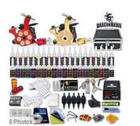 achat en gros de tattoo machine kit-Détails sur Kit Tattoo Top 2 Machine Gun 40 encre couleur Tip Alimentation Set 50 Needle 10-24GD-3