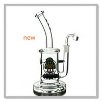 beehive glass - Tall glass bong bent neck water bongs beehive inline perc water bongs glass water pipes mm joint with quartz banger hookahs DGC1257